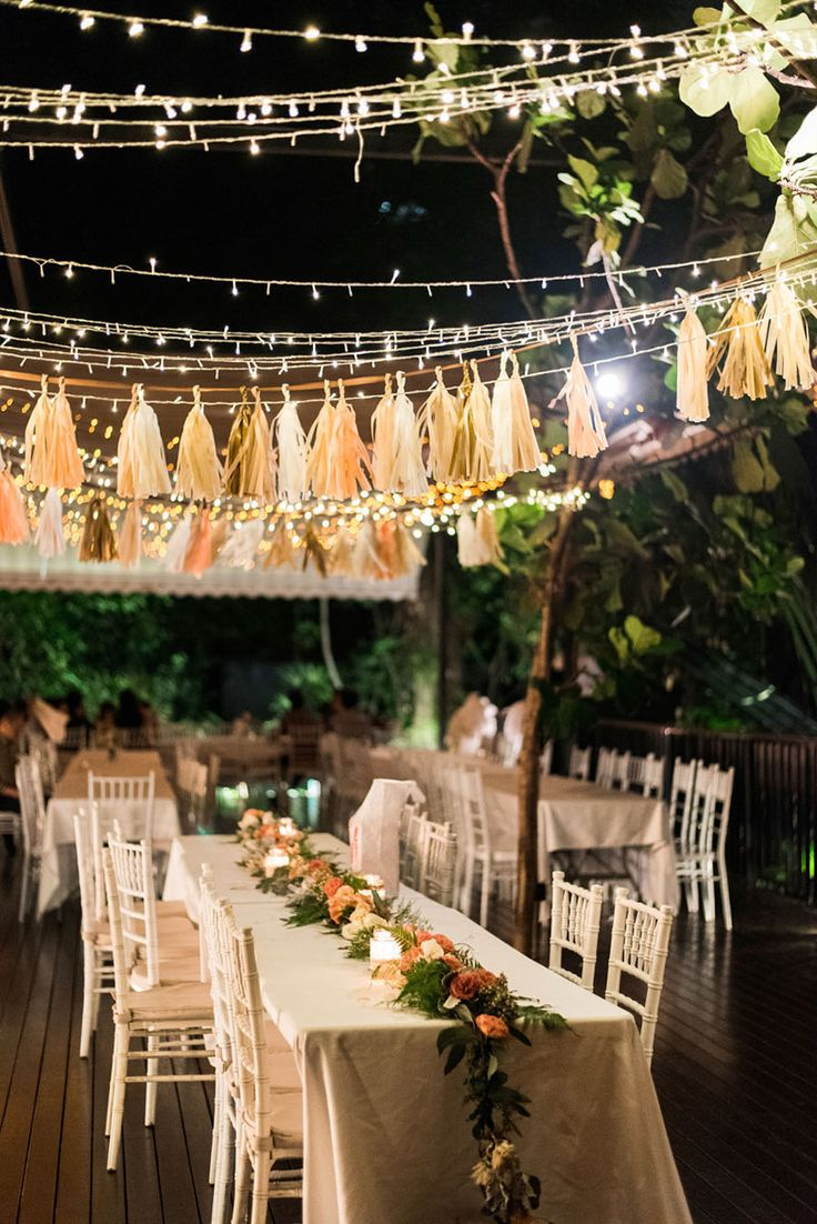 Fairy lights and tassle garlands // The Wedding Scoop's Top 10 Weddings of 2015