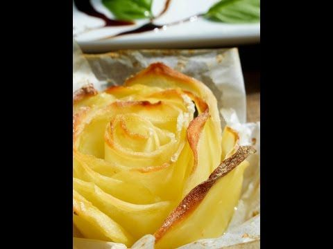 rose di patate al forno - YouTube