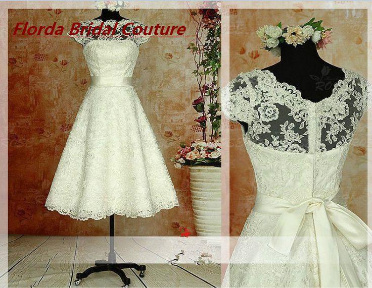 Vintage 1950s Wedding Dress Lace Sleeveless Knee length Lace Wedding Dresses Wedding Gown Bridal Gowns Vestidos De Novia-in Wedding Dresses from Weddings & Events on Aliexpress.com | Alibaba Group
