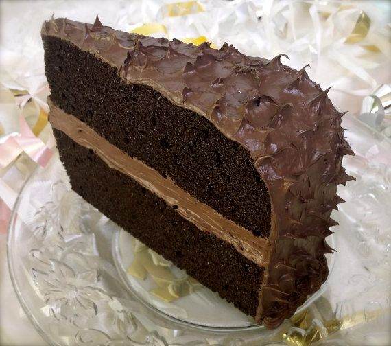 Mailable Chocolate Cake Postcard Standard Size by PostCakes