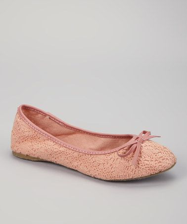 Take a look at this Coral Momo Ballet Flat by Bucco on #zulily today!