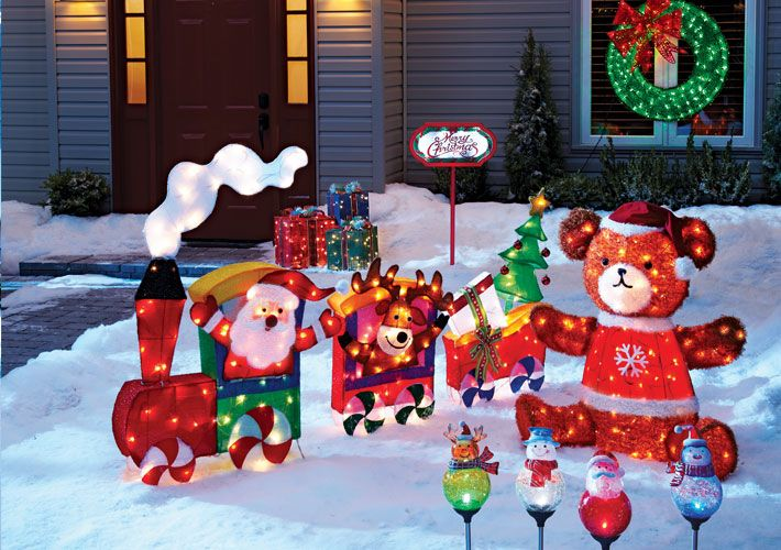 Add some colour to your home with these fun outdoor for Outdoor christmas figures
