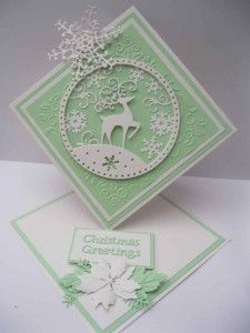 Tattered Lace Snowglobe Reindeer