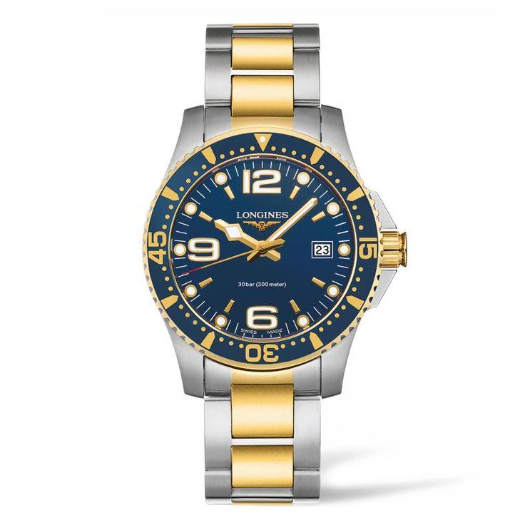 L37403967 Ανδρικό quartz ρολόι LONGINES HydroConquest με δίχρωμο χρυσό μπρασελέ, μπλε καντράν και ημερομηνία | Ρολόγια ΤΣΑΛΔΑΡΗΣ στο Χαλάνδρι #hydroconquest #longines #ρολόι
