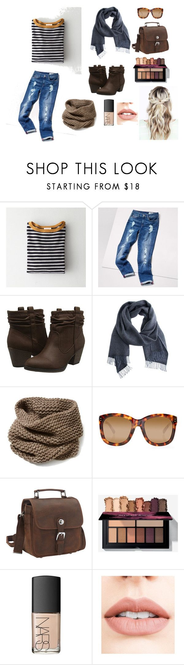 """""""Casual Street Style"""" by melanie-ottman ❤ liked on Polyvore featuring Demylee, Tommy Hilfiger, Rocket Dog, Lafayette 148 New York, Linda Farrow, Vagabond Traveler, NARS Cosmetics and Jouer"""