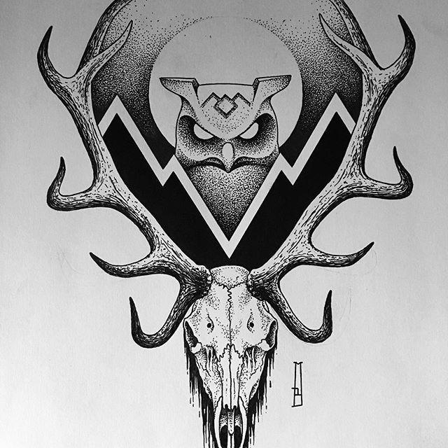 Available... #twinpeaks #owl #deer #skull #drawing #design #marcinbrzezinski #stronghold #strongholdtattoo #art #tattooartist #tattooflash #customtattoo #dotwork #blackwork_publicity #blacktattoo #blackink #poland #illustration #blacktattooart #darkartists #londonart #blck #blackworkers_tattoo #darkart #goth #death #metal #geometric #symbol