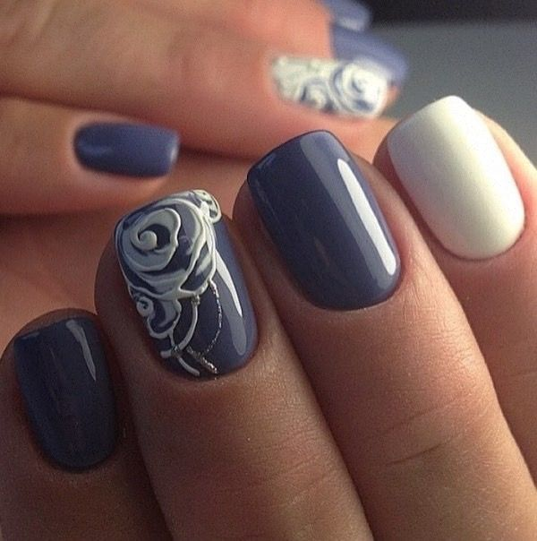 Beautiful autumn nails, Beautiful nails 2017, Fall short nails, Fashion autumn nails, Pastel nails, ring finger nails, Spectacular nails, Square nails