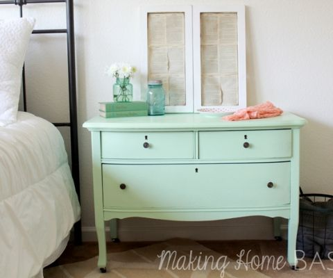 Olympic Sweet Pea Mint Green Dresser | Involving Color Paint Color Blog