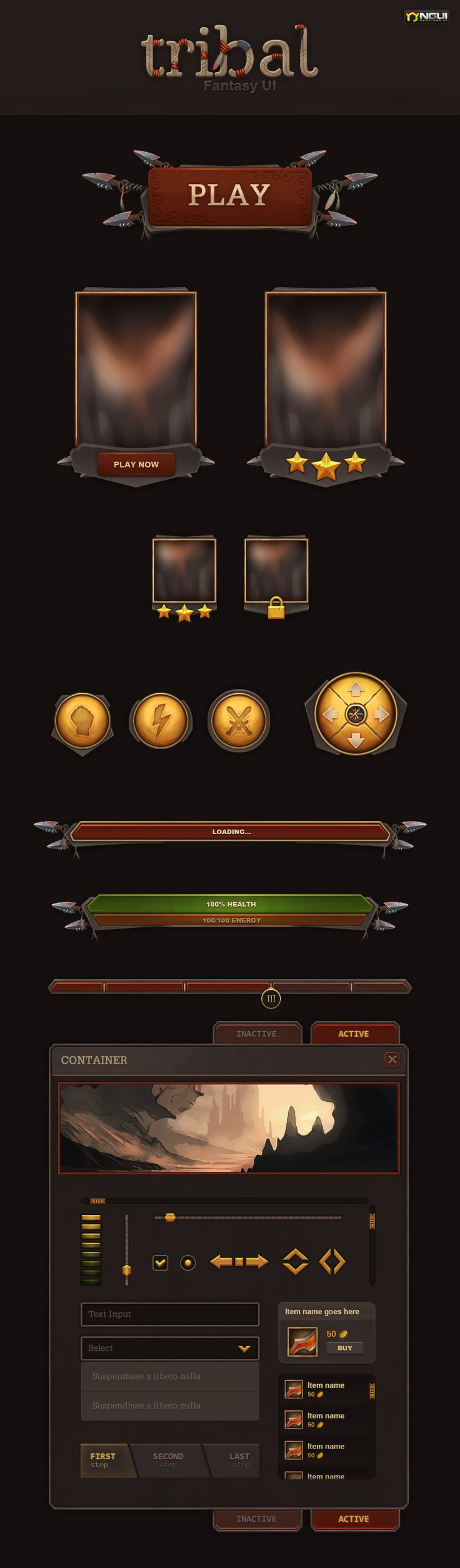Tribal UI by Evil-S.deviantart.com on @deviantART