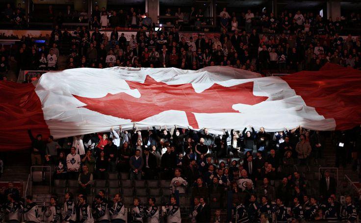 O Canada @ the leafs game. Air Canada Centre. Toronto, Canada.
