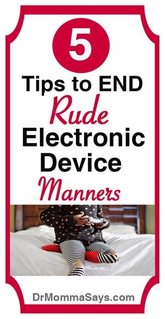 Dr. Momma discusses how parents need to work to end rude electronic device manners in kids by teaching them 5 important rules