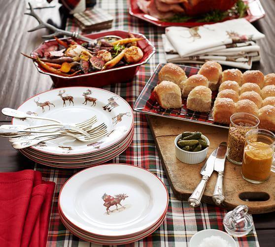 Landon Plaid Platter Potterybarn Pottery Barn Christmas