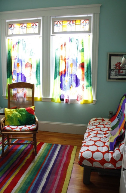 marimekko curtains_love the transparency - love the stained glass with the curtains