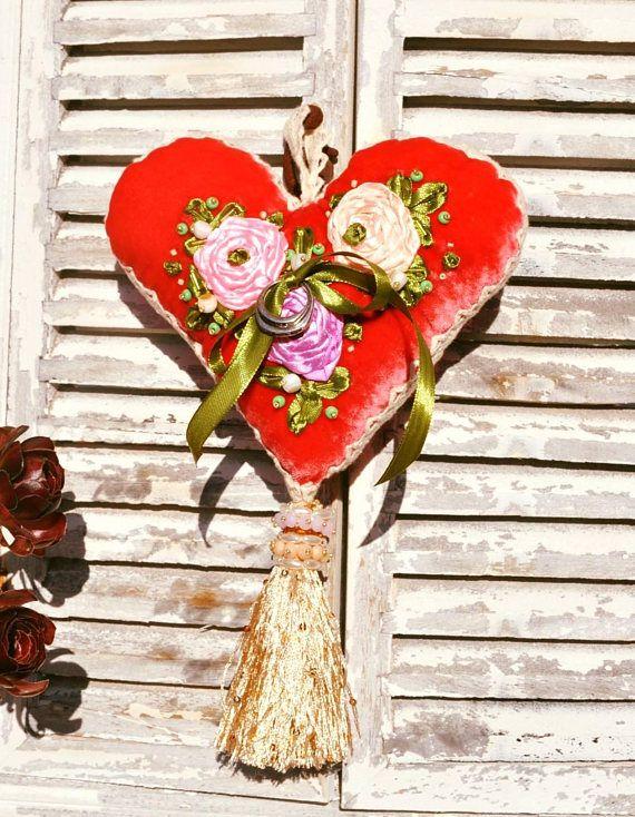 NUEVO!!! almohada de boda, almohada de seda, almohada seda rojo, regalo de boda, regalo de navidad, regalo de novias, regalo de familia