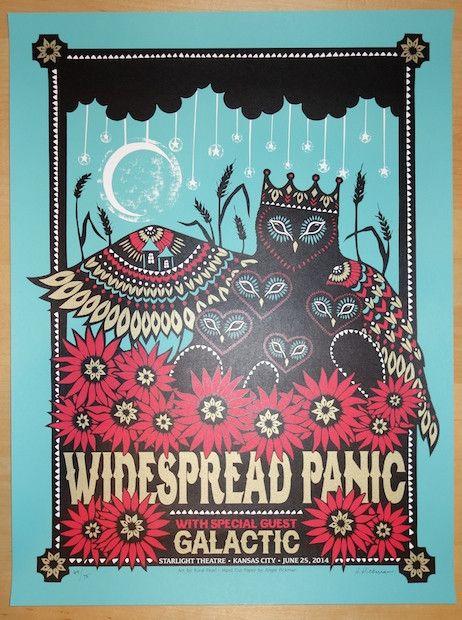 2014 Widespread Panic - KC Silkscreen Concert Poster by Angie Pickman