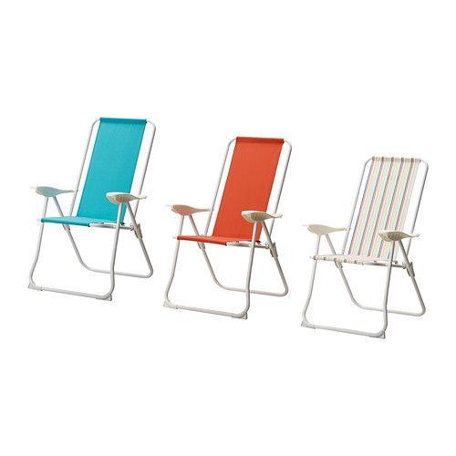 HÅMÖ Chaise à dossier inclinable IKEA Toile de polyester épaisse. Très robuste et résistante.