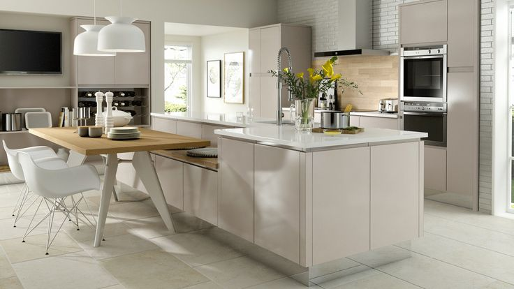 Solo Gloss Cashmere - Our Kitchens - Chippendale Kitchens Shop: Jacksons of Petersfield