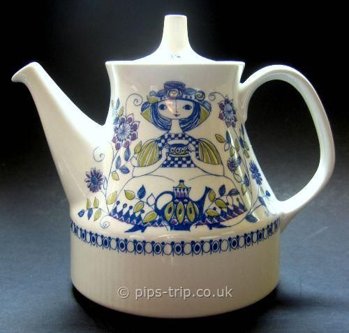 SOLD POTTERY ARCHIVES : Scandinavian Pottery 1 : 1960s Figgjo Flint (Norway) Lotte Teapot by Turi Gramstadt Oliver