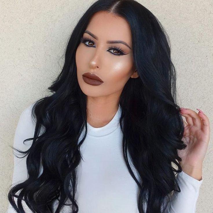 "GLAMREZY ♊️ on Instagram: ""Hi  wearing @bellamihair extensions /code: amrezy foroff/ @lipkitbykylie ""True Brown K"" on the lips  @anastasiabeverlyhills ""Gleam"" glow kit ✨"""