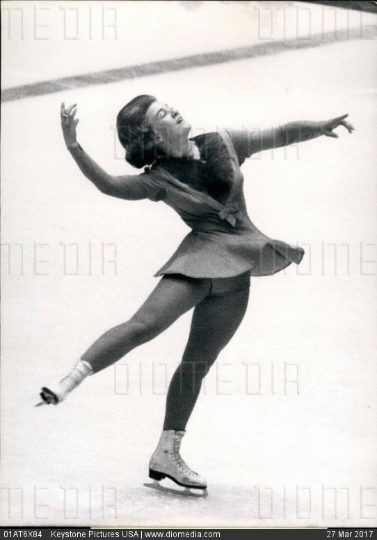 Feb. 02, 1964 - Olympic winter games 1964 in Innsbruck/ Austria: The best free figure skating of the world: showed Sjoukje Dijkstra with a total note of 2'o 18.5 for Regine Heitzer (Austria) and Petra Burka (Canada) Picture Shows: The Olympic winner of figure of figure skating S. Dijkstra (Nederland) by here dance. (Credit Image: Keystone Pictures USA/ZUMAPRESS.com),