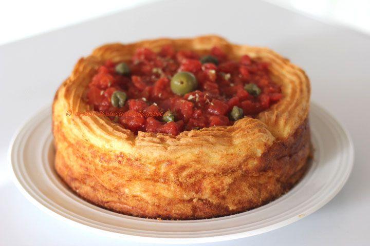 QUICHE GATEAU da Le mie torte salate di Luca Montersino per una teglia da 18 cm (ma meglio da 24 cm) - by araba felice in cucina