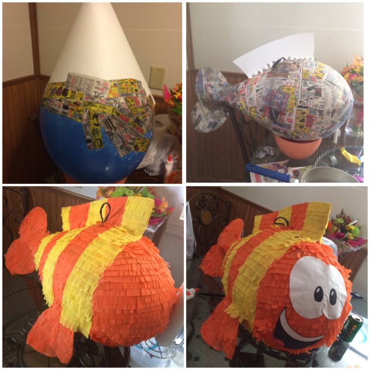 Mr. Grouper piñata for a Bubble Guppies theme party!