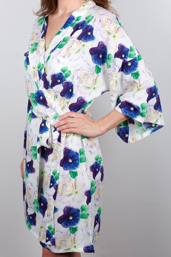 Bridesmaid Robe  Wedding robes  Floral robes Kimono  Bridesmaid gifts