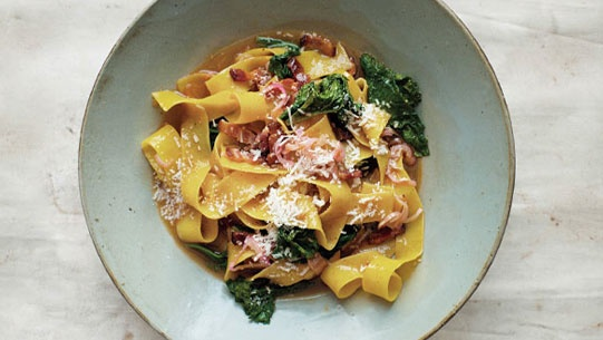 Potlikker mustard noodles with mustard greens....I will make with ...