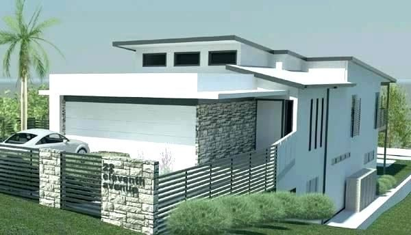 Image Result For Steep Slope House Plans Modern Beach House Narrow Lot House Facade House