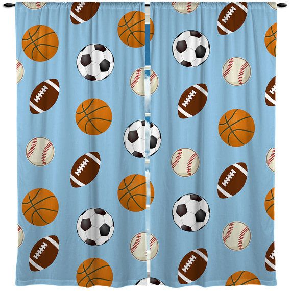 Custom Window Curtain All Sports Theme Color Cool By Redbeauty
