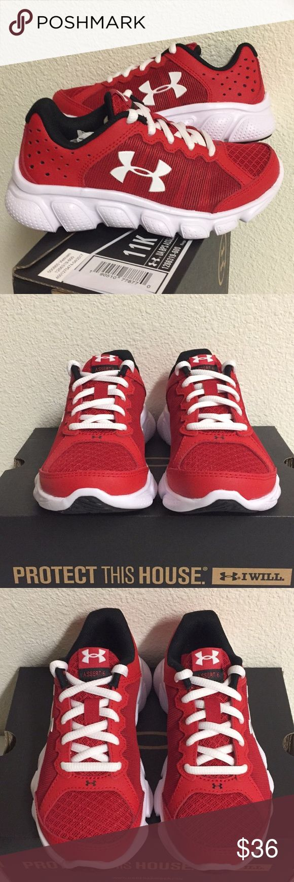 UNDER ARMOUR BPS ASSERT 6 (11K) KIDS SHOES Brand New Under Armour BPS ASSERT 6 Size:11K Kids Shoes. Under Armour Youth BPS Assert 6 Running Shoes - Full-length cushioned EVA midsole delivers the ultimate lightweight and responsive ride. The strategically placed rubber traction covers high impact zones for greater durability with less weight. Under Armour Shoes Sneakers