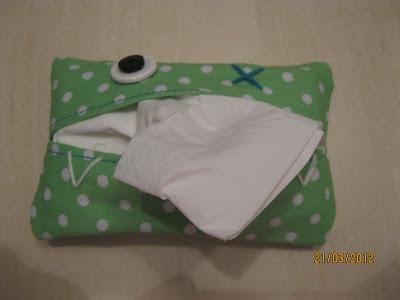 Kreafreak: Etui til lommetørklæder og rejsepose :-)