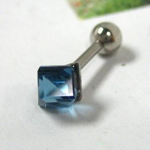 Single Earring Blue - One Size