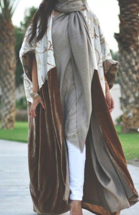 velvet open front abaya