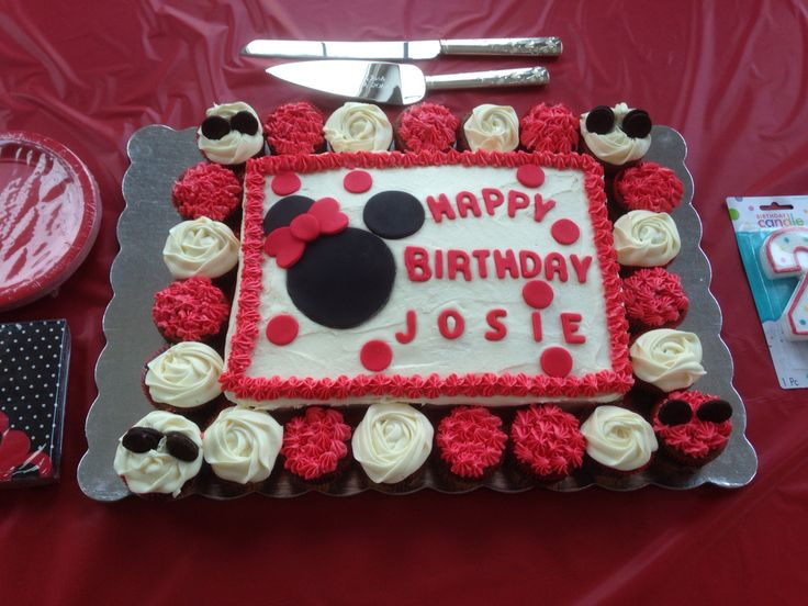 Birthday Cake Image For Josie : Red Minnie Mouse Birthday Cake #2ndbirthday #josie Bake ...