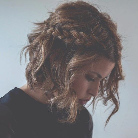 gorgeous braided short hairstyle