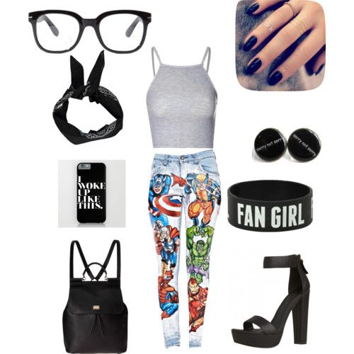 geek fashion style for woman by daniellefigueroa on Polyvore featuring polyvore moda style Glamorous Dolce&Gabbana Boohoo Forever 21 Lottie