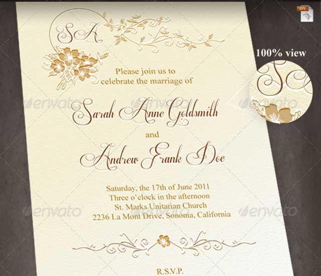 Diferentes dise os de invitaciones de boda totalmente - Disenos tarjetas de boda ...