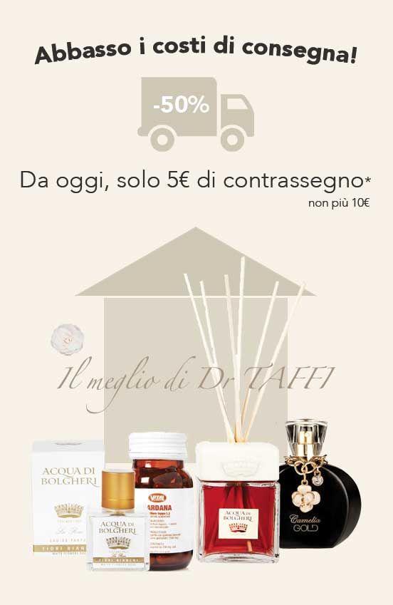 Abbasso i costi di spedizione! Da oggi, con #DrTaffi, il contrassegno costa solo 5€! #Shoppingonline 100% #Natural #CrueltyFree #Vegan #Luxury #Bio #Organic #Beauty #Healthy
