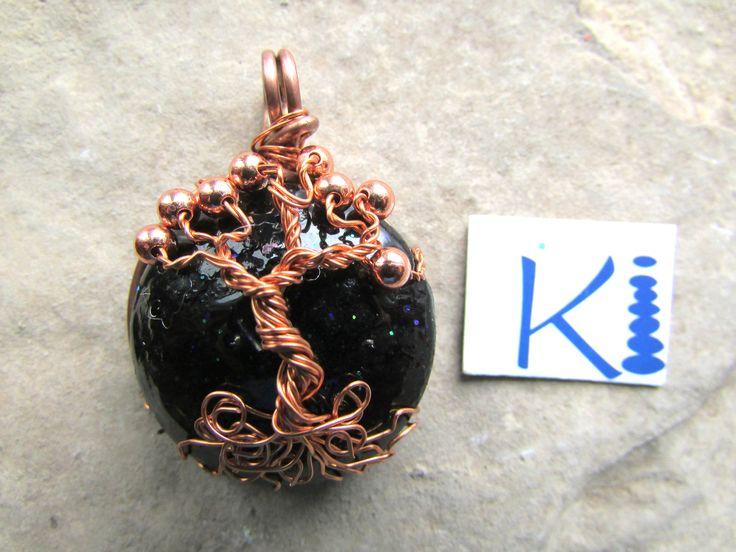 Orgone Pendant Tree of Life  Black Tourmaline Copper by KiCrystalCreations on Etsy