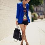 Cobalt blazer and Stella McCartney handbag