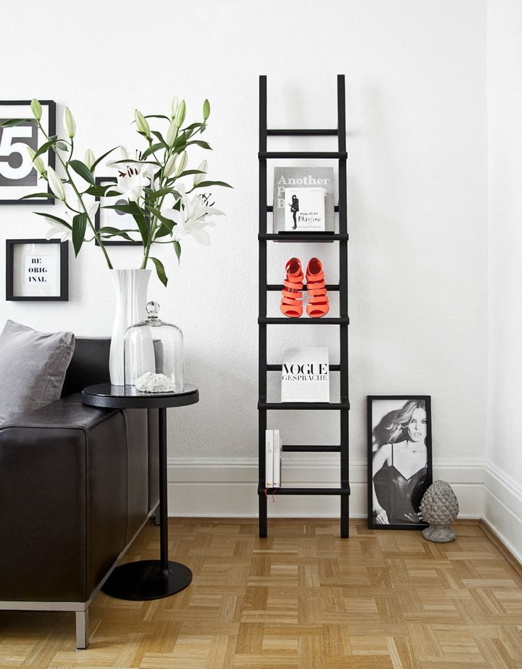 die besten 25 leiter deko ideen auf pinterest rustikale. Black Bedroom Furniture Sets. Home Design Ideas