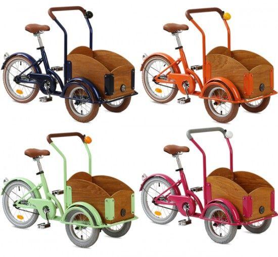 republic 3 wheel bikes with wagon for kids