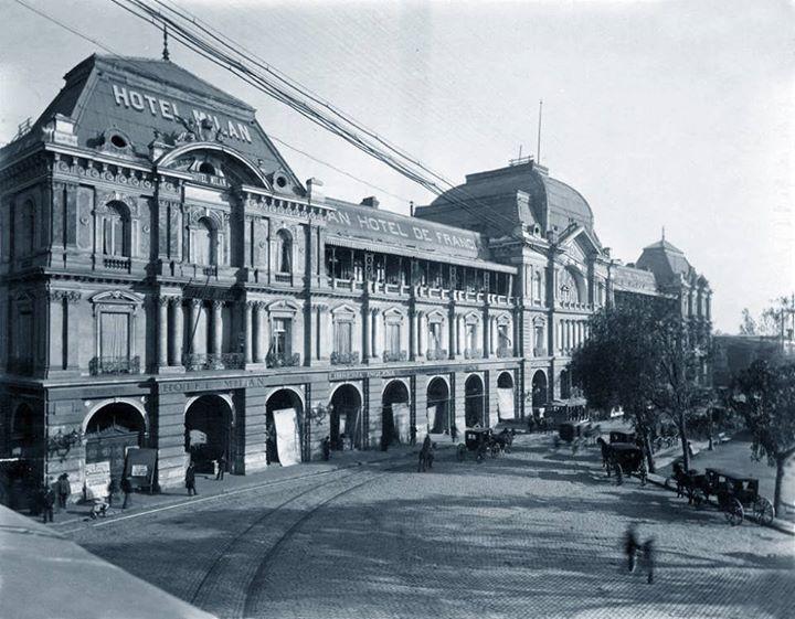 Portal Fernández Concha, sector Plaza de Armas de Santiago en 1894