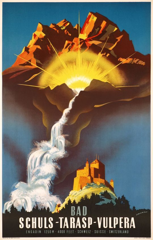 Schuls Tarasp Vulpera Bad, Engadin Schweiz 1940