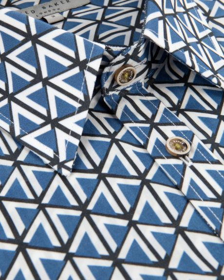 Farb- und Stilberatung mit www.farben-reich.com - BIGTENT - Geometric print shirt - Blue | Men's | Ted Baker UK