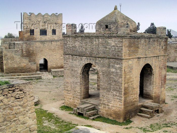 Ateshgah fire temple in Azerbaijan. This is supposed to be the first or one of the earliest fire temples of the Zoroastrian religion.: