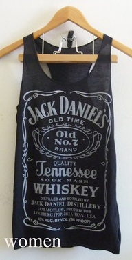 Jack Daniels whiskey sign Black Tank top size S/M by joArtwork, $12.50 - got to love vintage tanks!