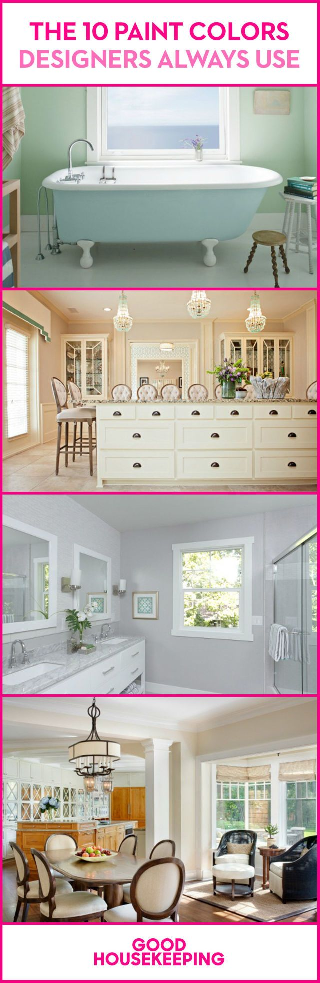 The 10 paint colors designers always use paint colors - Interior design house paint colors ...