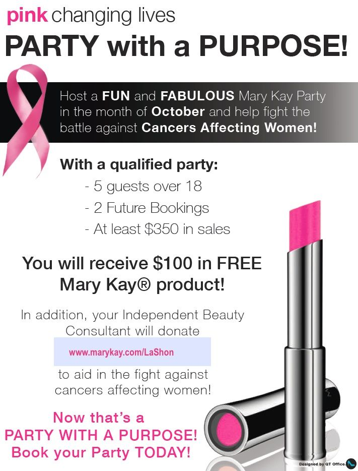 Party with a purpose and have funღ www.marykay.com/LaShon